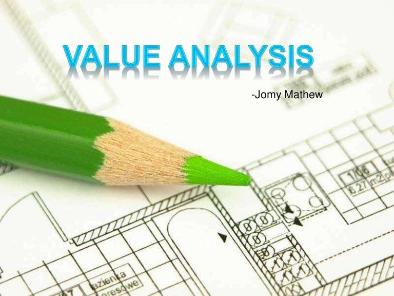 Value analysis by jomy mathew toneelgroepblik Gallery