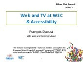 Web&TV at W3C & Accessibility