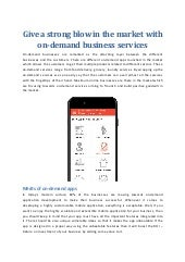 Enjoy the virtues of business by on-demand business services