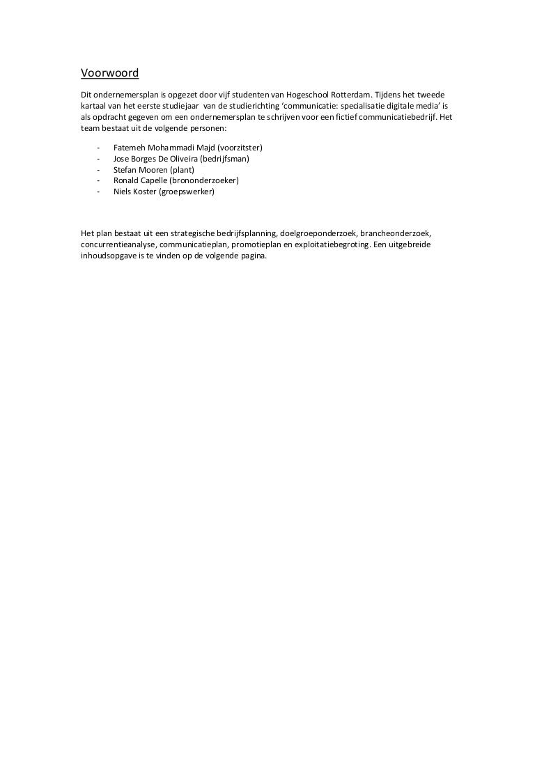 Ondernemingsplan Shock Live (Studie project)