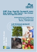 GRF Davos One Health Summit