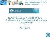 Oneia eid&ct conference 2013, May 16, 2013