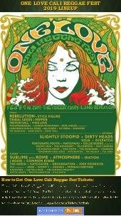 One Love Cali Reggae Fest Announces Lineup