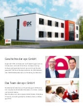 One Pager was macht die epc GmbH
