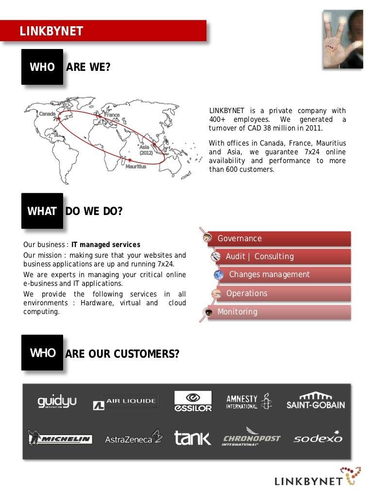 One Page Linkbynet Presentation
