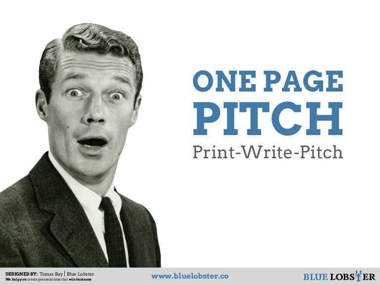 one page business pitch