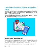 One stop solution for sales manager and team