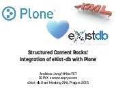 Integration of Plone with eXist-db