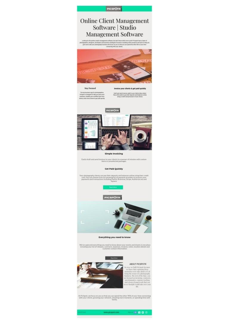 Online Client Management Software Studio Management Software Pics