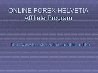 Forex trading affiliate 2 plus