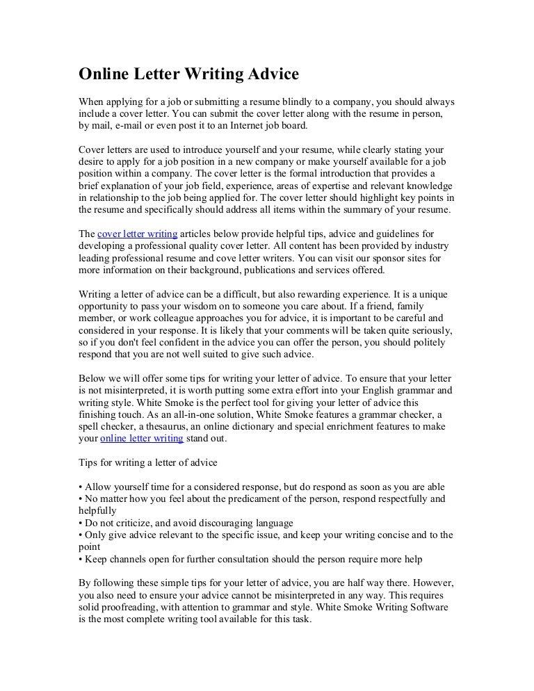 Submitting A Cover Letter Online from cdn.slidesharecdn.com