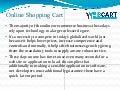 Web Cart – Online Shopping Cart Development!
