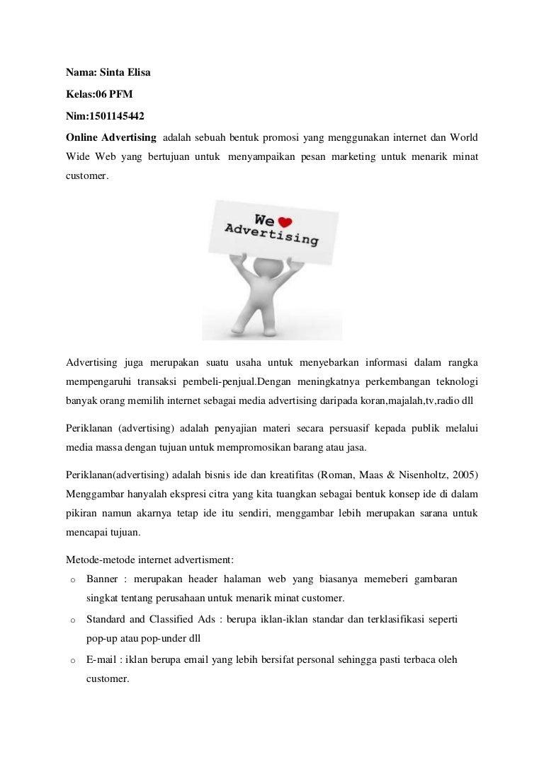 Mengenai Tugas Online Advertising