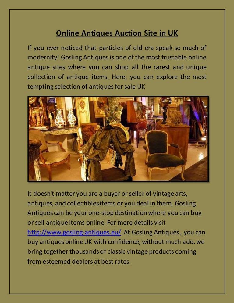 Online Antiques Auction Site In Uk