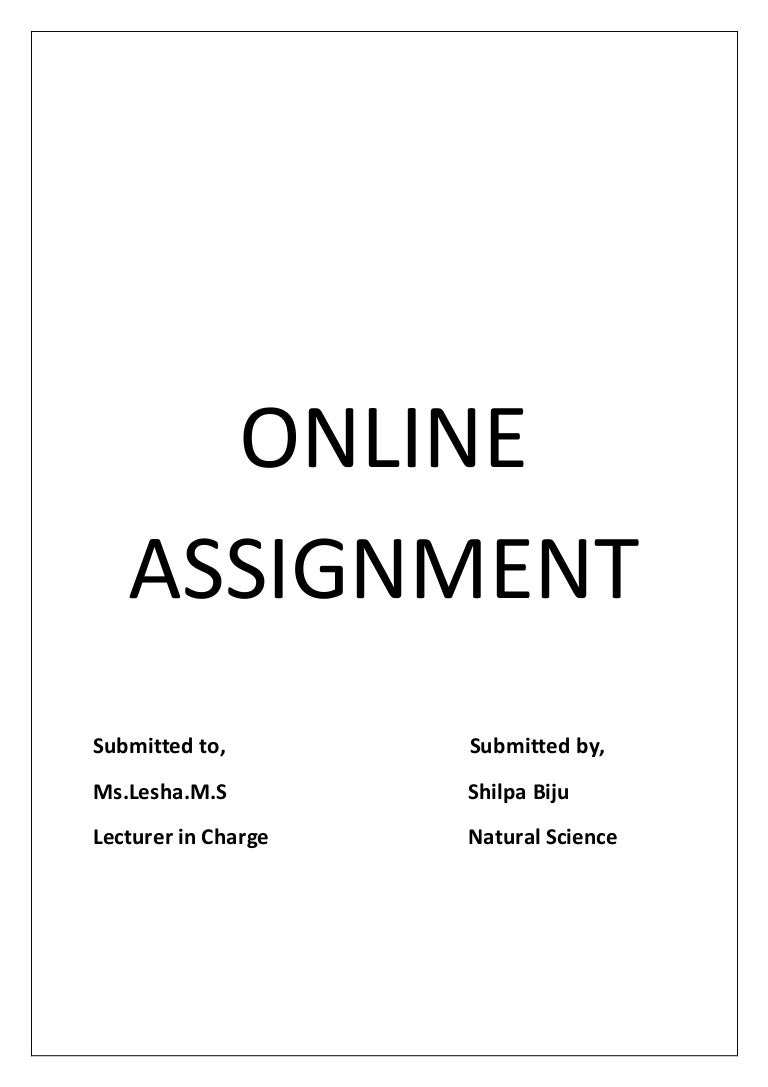 online assignment circle learning