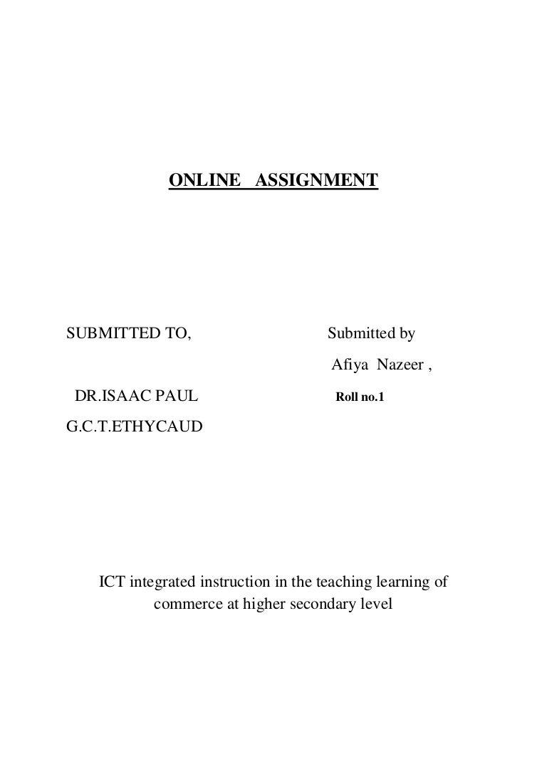 online assignment pdf