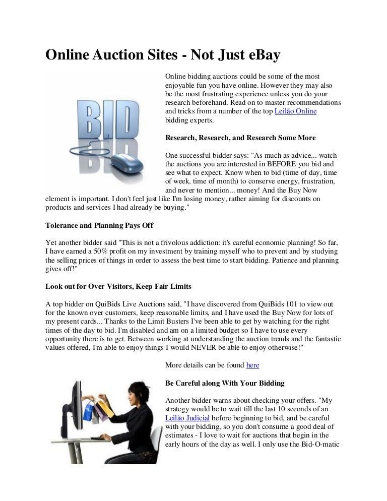 Online Auction Sites Not Just Ebay