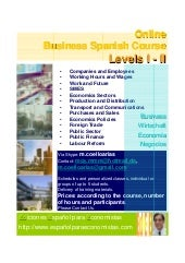 Online Business Spanish Course for Economists  English