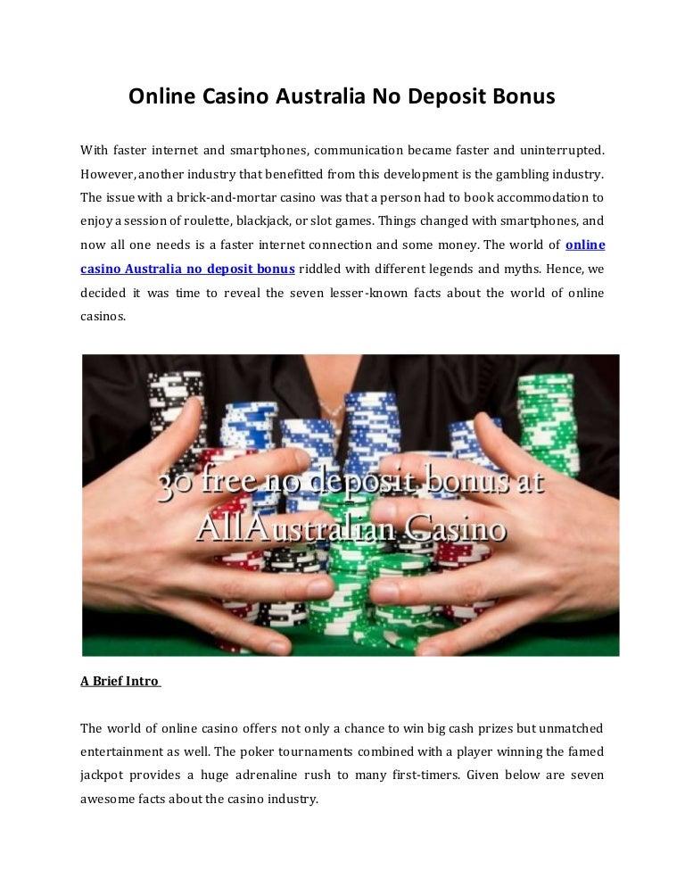 Online Casino Australia No Deposit Bonus