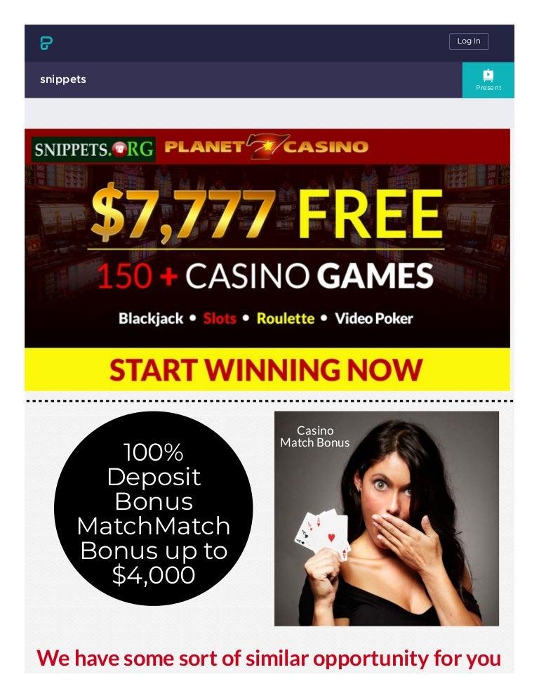 Online Casino Bonus Code 2021