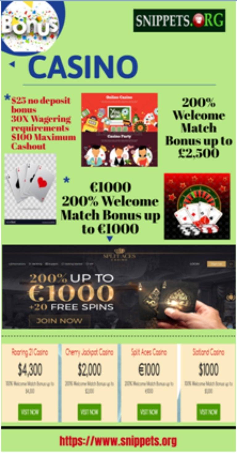Online Casino Bonus Codes Snippets