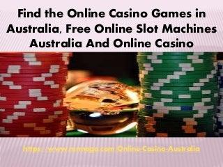 Online casino games in australia