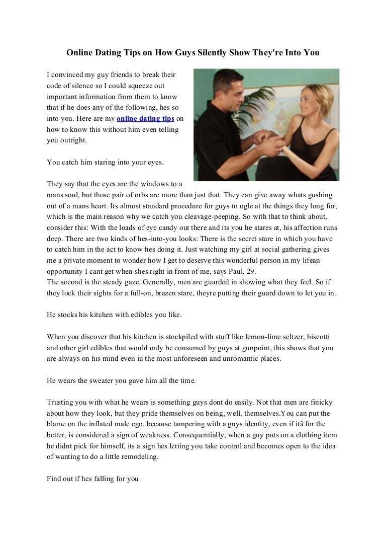 Online dating how to tell if hes into you