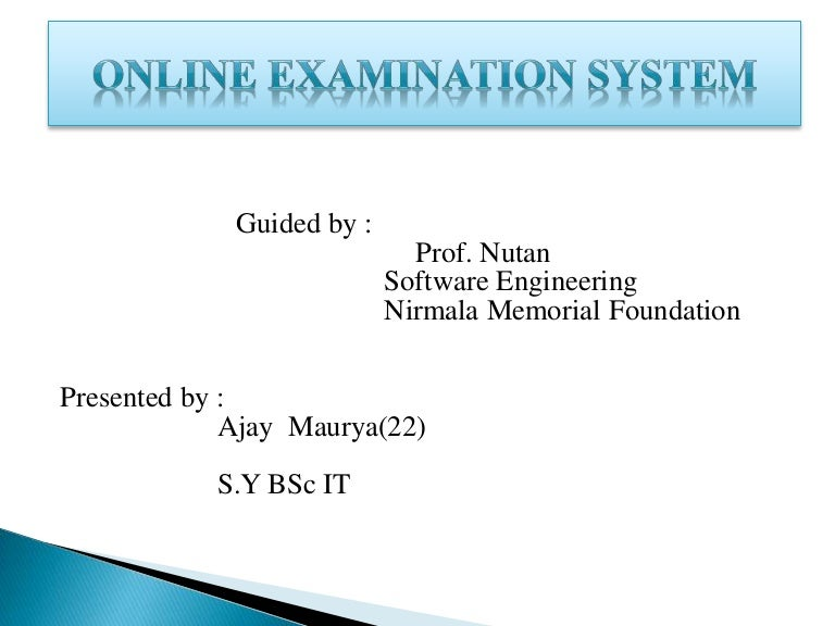 definition of online examination system