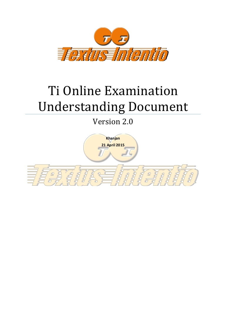 documentation of examination system Documentation of examination system filed under: essays 1 page, 448 words entrance examination system describes and explains the proper way on how to organize an individual test of a student.
