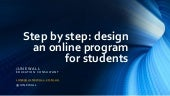 Step by step online learning for students