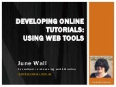 Online learning tutorials using web tools