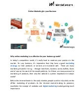 Online marketing for your business imediadesign