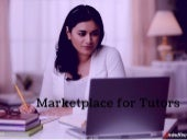 Online Marketplace for Tutors