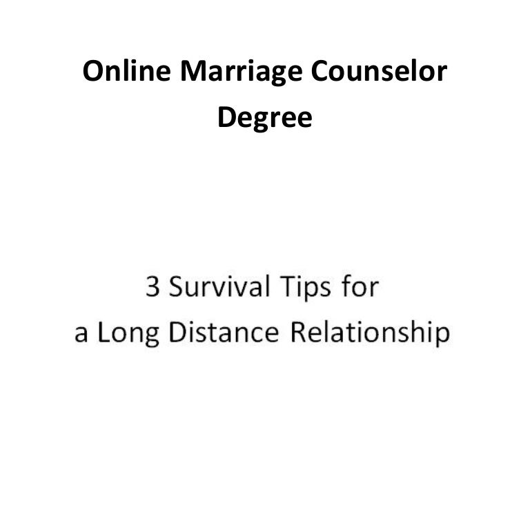 Online Marriage Counselor Degree