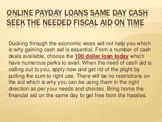 Instant 100 dollar loan today Same Day Cash