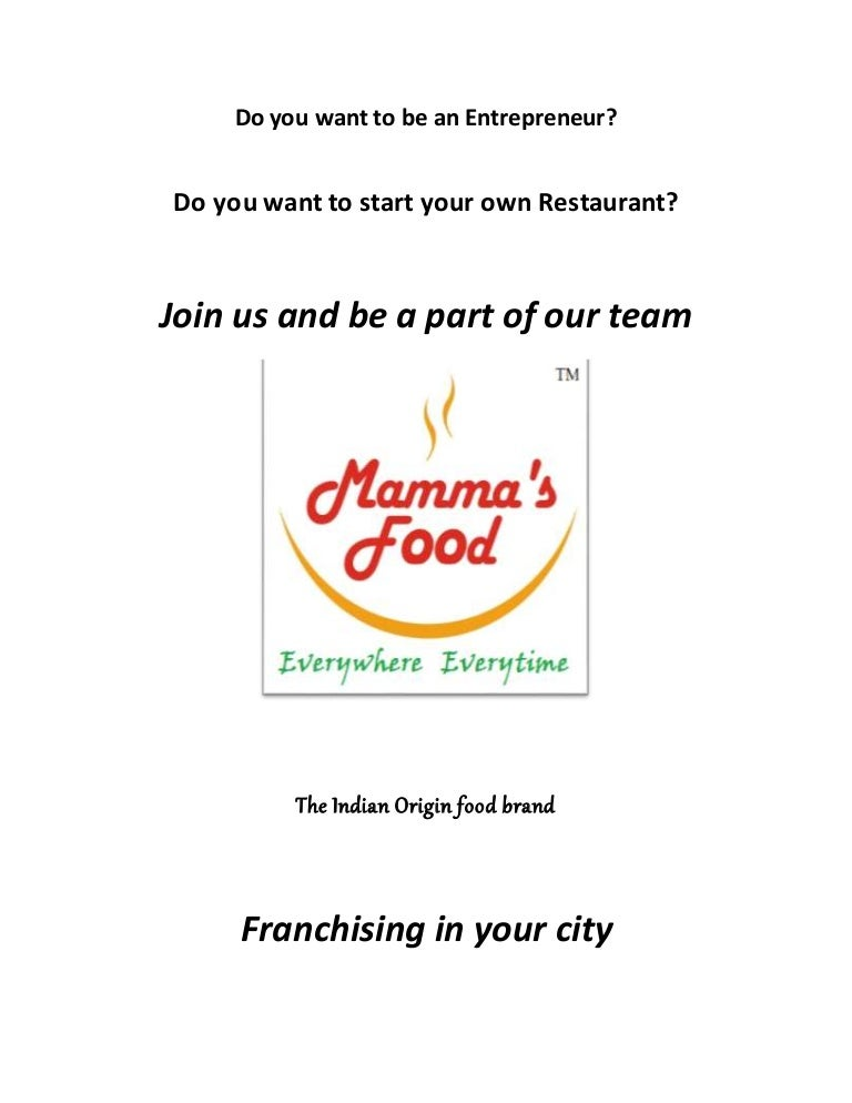 Mamma S Food Restaurant Franchise Project