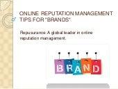 Repusurance | Online reputation management  tips for brands