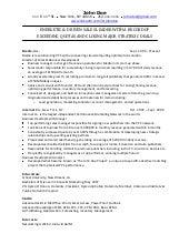 online sales resume sample