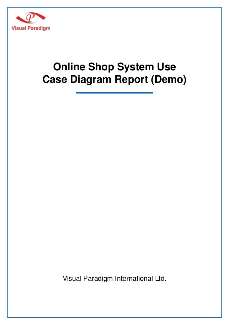 Online Shop System Use Case Diagram Report