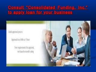 Online small business loan