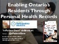 Ontario eHealth Centre of Excellence April 2016 e-Patient Dave