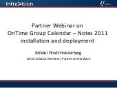 OnTime Partner Webinar September 2011