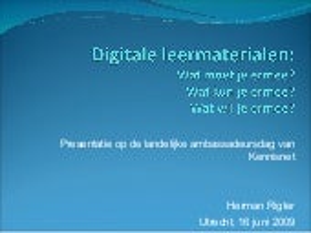 Ontwikkelen En Inzetten Digitaal Leermateriaal