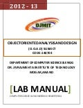 ooad lab manual Object oriented analysis and design lab - recruitment systemclick here to download the below document with diagrams recruitment system 1objective: to.