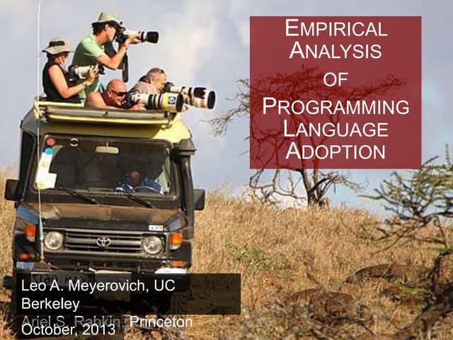 Empirical Analysis of Programming Language Adoption