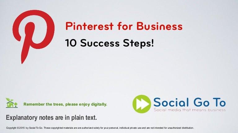 Pinterest for Business - Seminar Slides
