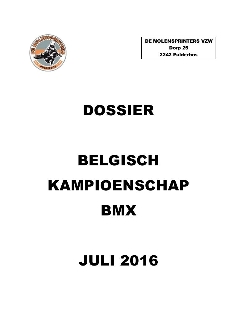 Sponsordossier BK BMX 2016