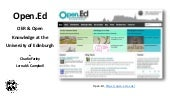 Open.Ed - OER & Open Knowledge at the University of Edinburgh