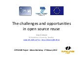 The challenges and opportunities in open source reuse
