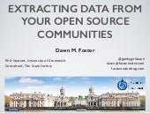 Extracting Data from your Open Source Communities